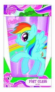 My Little Pony Boxed Glitter Pint Glass Pre-Order ships August