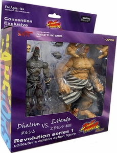 Sota Toys Street Fighter SDCC Exclusive Revolution Series 1 Action Figure 2-Pack Dhalsim vs. E. Honda
