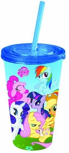 My Little Pony Friendship is Magic 16oz Cold Cup, lid & Straw Pre-Order ships April