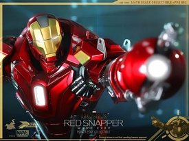 Iron Man 3 Hot Toys Movie 1/6 Scale Power Pose Figure  Iron Man Mark 35 Red Snapper Pre-Order ships April