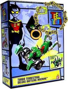 Teen Titans Deluxe Battling Machine Toy Turbo Terrestrial Impossible To Find!