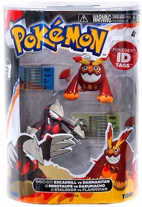 Pokemon TOMY Basic Figure 2-Pack Excadrill & Darmanitan