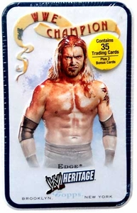 WWE 2007 Topps Heritage Trading Cards Tin Edge