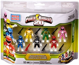 Mighty Morphin Power Rangers Mega Bloks Set #5836 20th Anniversary Mini Figure 6-Pack