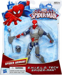 Ultimate Spider-Man Ultimate Core 6 Inch Action Figure S.H.I.E.L.D Tech Spider-Man Pre-Order ships July