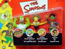 The Simpsons Exclusive Playmates Action Figure 3-Pack Comic Bongo Group [Ingestible Hulk, Vampiredna & Captain Kwik]