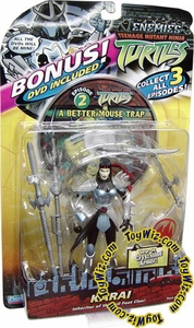 Teenage Mutant Ninja Turtles TMNT Enemies Action Figure Karai [With Bonus DVD]