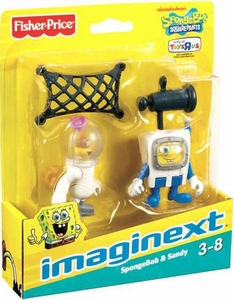 SpongeBob Squarepants Imaginext Exclusive Mini Figure 2-Pack SpongeBob & Sandy