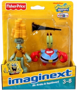 SpongeBob Squarepants Imaginext Exclusive Mini Figure 2-Pack Squidward & Mr. Krabs