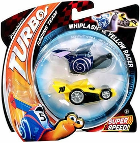 Turbo Movie Vehicle 2-Pack Whiplash vs Yellow Racer
