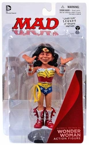 DC Collectibles MAD Just Us League of Stupid Heroes Action Figure Alfred E. Neuman As Wonder Woman