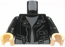 LEGO LOOSE Torso Black Leather Jacket