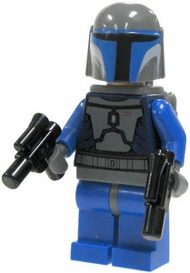 LEGO Star Wars LOOSE Mini Figure Mandalorian Warrior with Twin Blaster Pistols