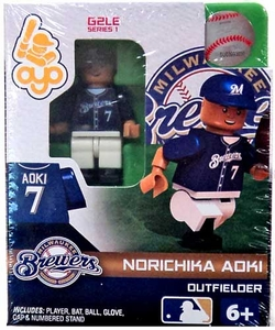 OYO Baseball MLB Generation 2 Building Brick Minifigure Norichika Adki [Milwaukee Brewers]