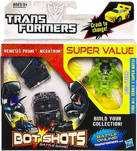 Transformers Bot Shots Battle Game Decepticons 3-Pack Nemesis Prime, Megatron & Acid Storm