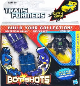 Transformers Bot Shots Battle Game 3-Pack Brawl, Shockwave, Ironhide