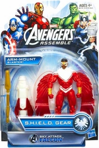 Marvel Avengers Assemble SHIELD GEAR Action Figure Sky Attack Falcon [Arm Mount Blaster!]