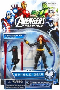 Marvel Avengers Assemble SHIELD GEAR Action Figure Inferno Cannon Black Widow [Launching Missiles!]