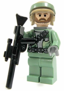 LEGO Star Wars LOOSE Mini Figure Rebel Commando with Blaster Rifle [Bearded Face]
