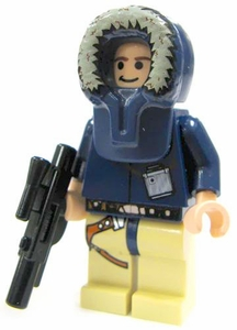 LEGO Star Wars LOOSE Mini Figure Han Solo in Hoth Hood with Blaster