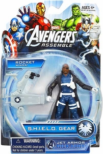 Marvel Avengers Assemble SHIELD GEAR Action Figure Jet Armor Nick Fury New!