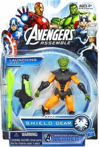 Marvel Avengers Assemble SHIELD GEAR Action Figure Radioactive Rocket Leader New!