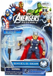 Marvel Avengers Assemble SHIELD GEAR Action Figure Thunder Axe Thor New!