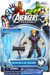 Marvel Avengers Assemble SHIELD GEAR Action Figure Phoenix Bow Hawkeye New!