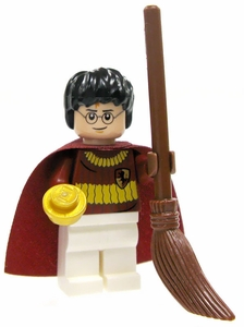 LEGO Harry Potter LOOSE Mini Figure Harry in Quidditch Gear with Broom