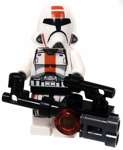 LEGO Star Wars LOOSE Mini Figure Republic Trooper with Brown Stripe & Heavy Blaster