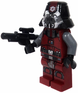 LEGO Star Wars LOOSE Mini Figure Sith Trooper in Dark Red with Blaster