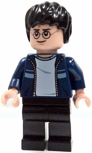 LEGO Harry Potter LOOSE Mini Figure Harry in Blue Sweater with Tan Pants & Wand