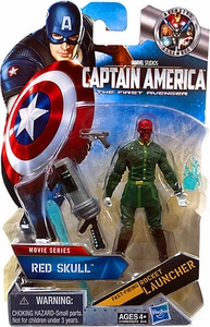 Captain America Movie 4 Inch Action Figure #08 Red Skull [Fast Firing Rocket Launcher] {White Gloves Variant}