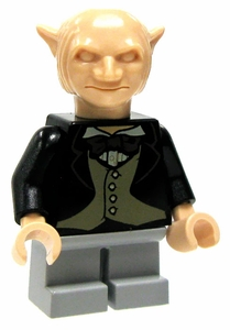 LEGO Harry Potter LOOSE Mini Figure Gringotts Goblin in Black Jacket & Gray Trousers
