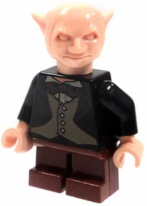 LEGO Harry Potter LOOSE Mini Figure Gringotts Goblin in Black Jacket & Brown Trousers