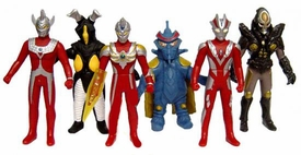 Ultraman Mini Vinyl Capsule Toy Set of all 6 Figures
