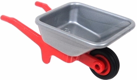 Playmobil LOOSE Accessory Red & Silver Wheelbarrow