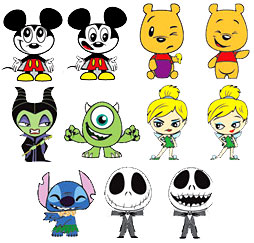 Funko Disney / Pixar Set of 11 BASIC Mystery Mini Vinyl Figures