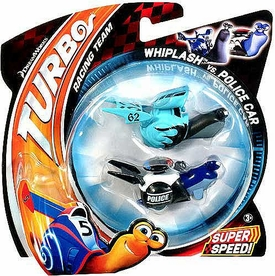 Turbo Movie Vehicle 2-Pack Whiplash vs Police Car