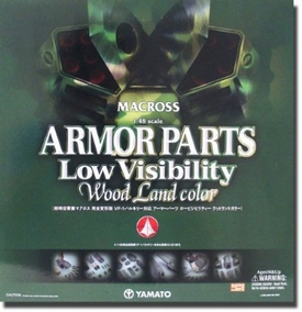 Robotech Macross Yamato 1/48 Scale Accessory Low Visibility Camo Version Upgrade Kit