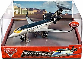 Disney / Pixar CARS 2 Movie Exclusive Deluxe Die Cast Figure Siddeley the Spy Jet Damaged Package, Mint Contents!