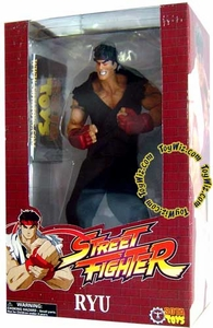 Sota Toys Street Fighter Large Scale Rotocast Vinyl Action Figure Evil Ryu Damaged Package, Mint Contents!