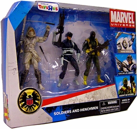 Marvel Universe 3.75 Inch Exclusive Action Figure 3-Pack Soldiers & Henchmen [Hand Ninja {White}, Shield Agent & Agent of Hydra]