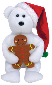 Ty Beanie Baby Jingle Goody the Christmas Bear (Gingerbread Man)