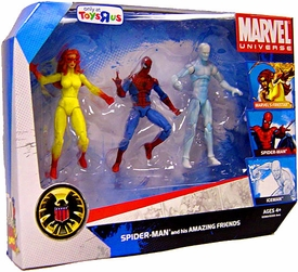Marvel Universe 3.75 Inch Exclusive Action Figure 3-Pack Spider-Man & His Amazing Friends [Firestar, Spider-Man & Iceman]