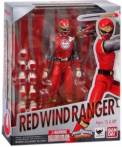 Power Rangers Ninja Storm S.H. Figuarts Action Figure Red Wind Ranger [Hurricane Red]
