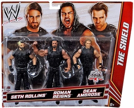 Mattel WWE Wrestling Exclusive Action Figure 3-Pack Seth Rollins, Roman Reigns & Dean Ambrose {The Shield!}