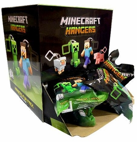 Minecraft Hangers 3 Inch Figure Mystery Box [24 Packs] New!