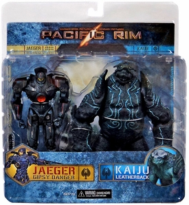 NECA Pacific Rim Action Figure 2-Pack Battle Damaged Gipsy Danger vs Leatherback