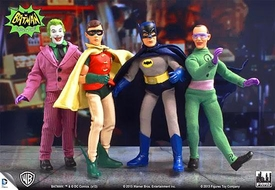 Batman Classic 1966 TV Series 1 Set of 4 Action Figures [Batman, Joker, Robin & Riddler]